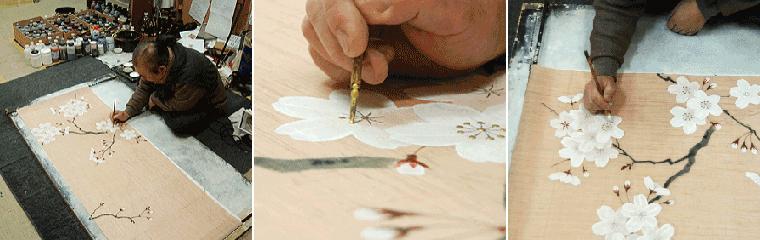 羅工房手刷りぽち袋、手描きのれん温かみの 和の工房